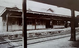 Fujisawa Station - The station in 1924