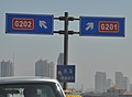 G201 Crossing G202 in Dalian, China.jpg