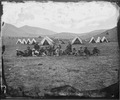 GROUP OF OFFICERS & ASSISTANTS AT RENDEZVOUS CAMP NEAR BELMONT, NEVADA - NARA - 524125.tif