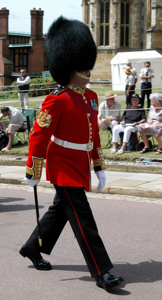 Warrant officer (United Kingdom) - WO1 (GSM) Bill Mott, Welsh Guards.