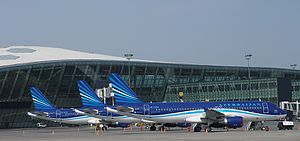 Heydar Aliyev International Airport - Azerbaijan Airlines is the main passenger airline at Baku Airport