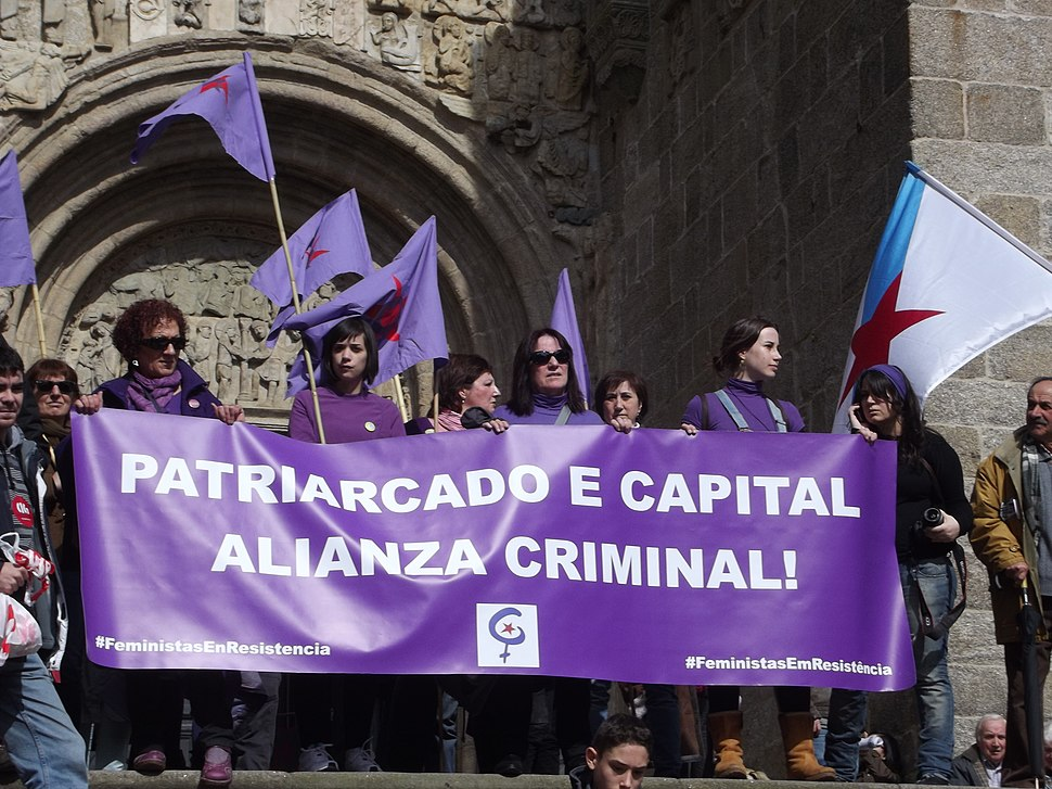 Gallician protestors feminist