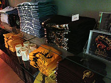 A selection of the show's merchandise