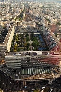 Gare montparnasse vue de la tour