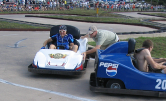 Gary Fisher - Gary Fisher in the Go-Kart portion of the 2005 SSWC