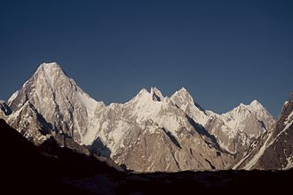 Gasherbrum IV - Left to right: Gasherbrum IV, VII, V, VI