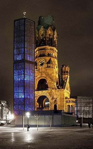 the Kaiser Wilhelm Memorial Church in Berlin-C...