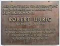 Gedenktafel Wartburgstr 4 (Schöb) Robert Uhrig.JPG