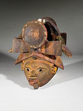 Masque Gèlèdé provenant du peuple Yoruba au Nigeria, au Birmingham Museum of Art(en)