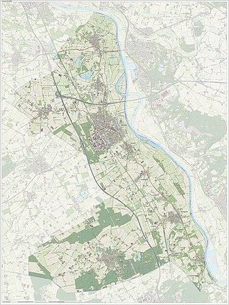 Boxmeer - Dutch Topographic map of Boxmeer, June 2015