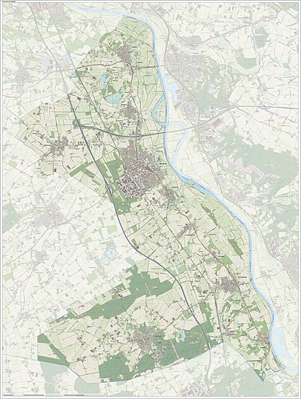 Dutch Topographic map of Boxmeer, June 2015