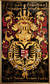 Gent, Sint-Baafskathedraal blazoen Maximiliaan II van Oostenrijk B STB 433 192.jpg