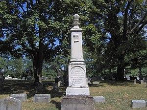 George W. Johnson (governor) - Johnson's gravestone in Georgetown Cemetery in Georgetown, Kentucky.