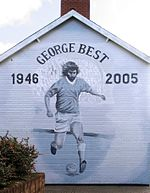George Best mural in Northern Ireland.