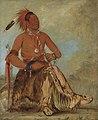 George Catlin - Nóm-ba-mon-nee, Double Walker, a Brave - 1985.66.116 - Smithsonian American Art Museum.jpg