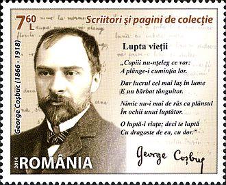 George Coșbuc - George Coșbuc on a 2014 Romanian stamp