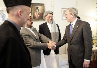 George W. Bush meets Afghan politicians in Kabul.jpg