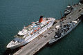 Georges Leygues class destroyer nearby the Cunard Princess, 1991.JPEG
