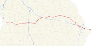 Georgia State Route 26 - Image: Georgia state route 26 map