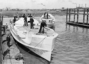 German E-Boats arriving at Gosport 1945.jpg