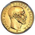 German States Hannover Ernst August 5 Taler 1849-B (obv).jpg