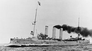 German light cruiser SMS Hamburg underway.jpg