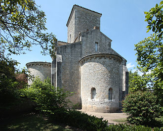 Theodulf of Orléans - The oratory at Germigny-des-Prés, after a restoration in the 19th century