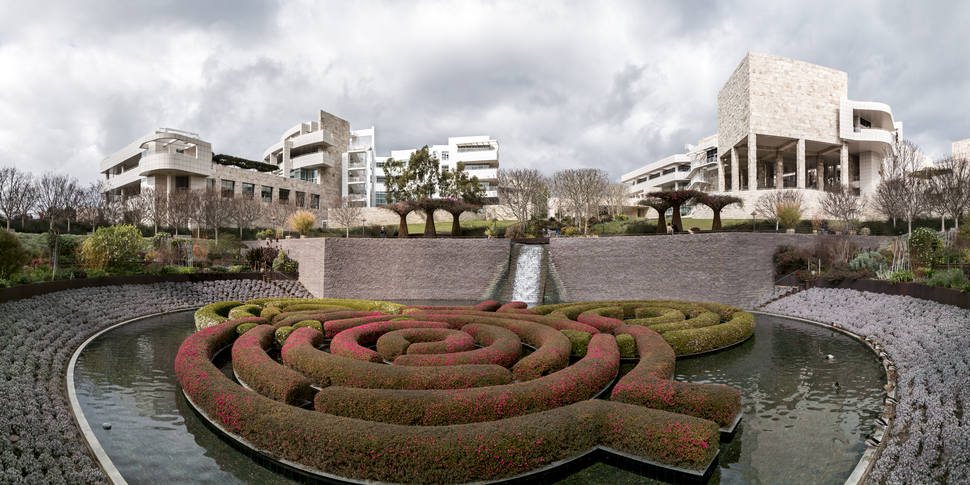 Getty Center from Central Garden on 2009-02-08