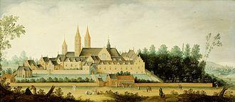 Egmond aan den Hoef - Image: Gezicht op de abdij te Egmond Binnen Rijksmuseum SK A 991