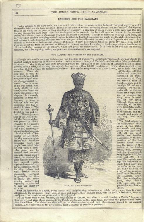 Gezo King of Dahomey