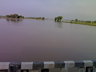 Anupgarh - Ghaggar river, near Anoopgarh, in the month of September.