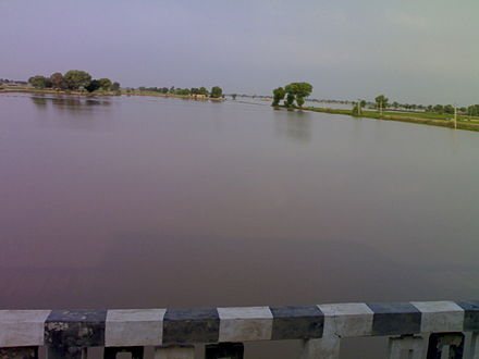 Ghaggar river, near Anoopgarh, Rajasthan in the month of September - Ghaggar-Hakra River