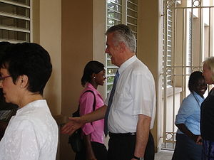 Dieter F. Uchtdorf - Uchtdorf visiting the Accra, Ghana LDS mission in 2007