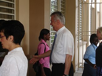 The Church of Jesus Christ of Latter-day Saints in Ghana - Dieter F. Uchtdorf visiting the Accra, Ghana LDS mission in 2007