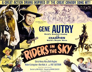 Riders in the Sky (film) - Theatrical release poster