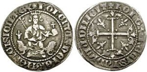 Gigliato - Silver gigliato of Robert the Wise