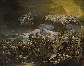 Battle of Mount Tabor (biblical) - Luca Giordano, The Defeat of Sisera, c. 1692.
