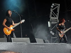 Girlschool beim Bloodstock Open Air 2009