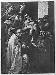 Madonna mit Kind, Engeln und Heiligen (?)