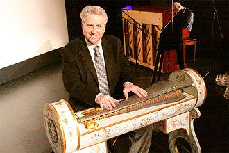 Glass harmonica - Dennis James plays the armonica at the Poncan Theatre in Ponca City, Oklahoma, on April 2, 2011.