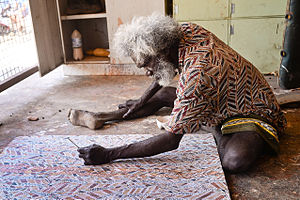 Aboriginal Australians - Arnhem Land artist at work