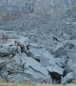 Example of talus/scree