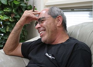 Jimmy Santiago Baca - Photograph by Gloria Graham during the video taping of Add-Verse, 2004