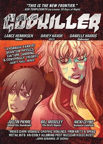 Godkiller - Godkiller: Walk Among Us feature-length illustrated film DVD cover (2010)