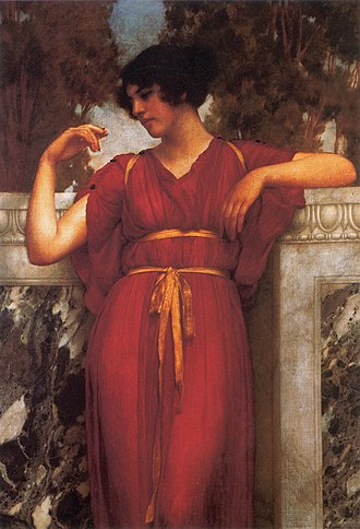 Girdle - Grecian style tunic wrapped with a taenia (ribbon) girdle.