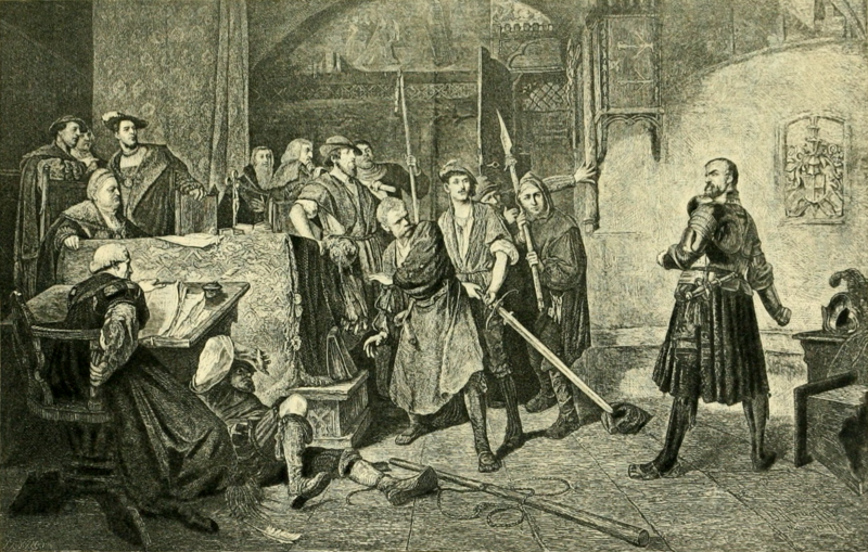 File:Goetz Resists Arrest (The Works of J. W. von Goethe, Volume 11).png