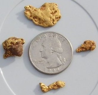 Gold extraction - Gold Nuggets found in Arizona.