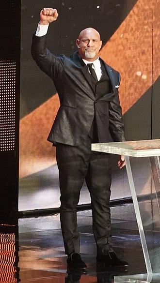 WWE Hall of Fame (2018) - Image: Goldberg WWE HOF 2018 crop