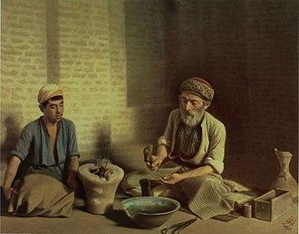 Goldsmith - The Baqdadi goldsmith by Kamal-ol-molk