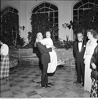 Casa Loma - Gooderham & Worts dinner party at Casa Loma in 1976. The property was operated by the Kiwanis Club of Casa Loma from 1937 to 2011.